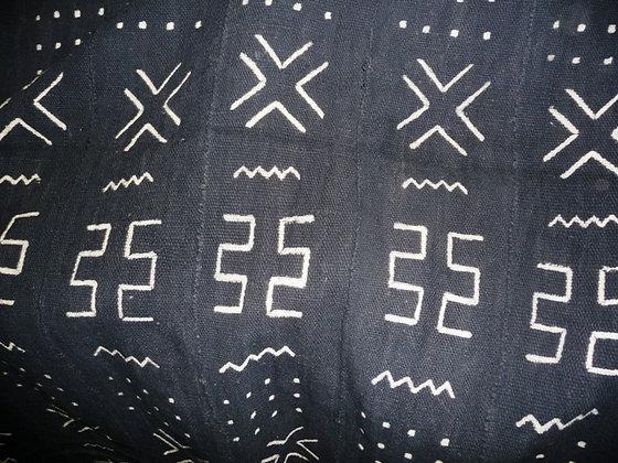 Black & White Mud Fabric