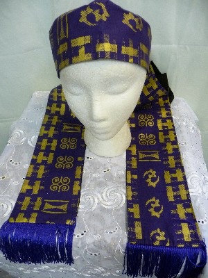 African Print Hat & Scarf Set