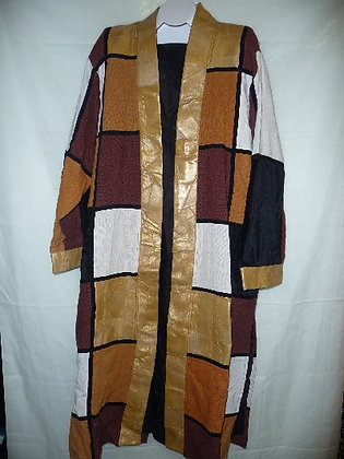 Multi-Color Long Leather Coat