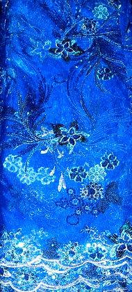 Royal Blue Lace Fabric