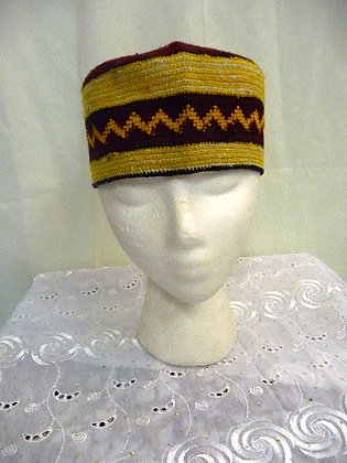 Gold & Brown Knitted Cap