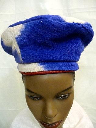 Blue Tie-Dye Crone Hat
