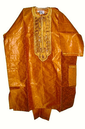 Gold Brocade with Gold Embroidery