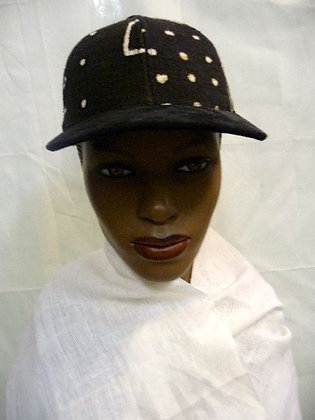 Black & White Mud Cloth Cap