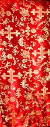 Red & Gold Asian Fabric