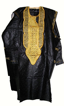 Black & Gold Brocade