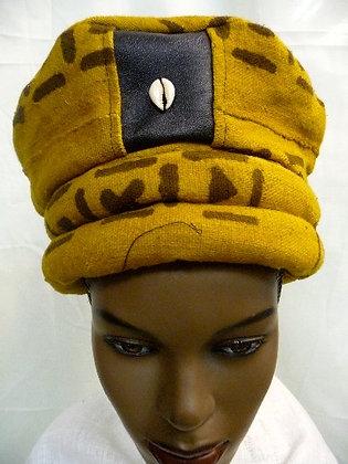 Brown Mud Cloth Hat