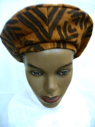 Brown Mud Cloth Hat