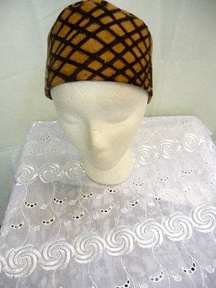 Brown & Black Mud Cloth Hat