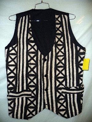 Black & White Mud Cloth Vest