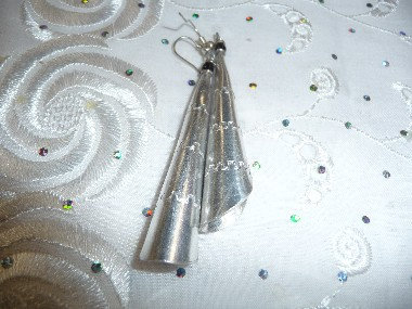 White Metal Earrings