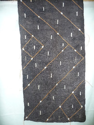 Black & Brown Cuba Cloth with Shells