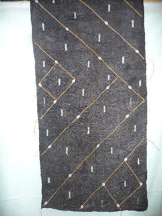 Black & Brown Cuba Cloth with Shells