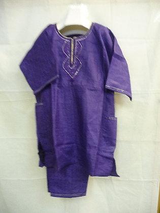 Purple Set with Purple Embroidery