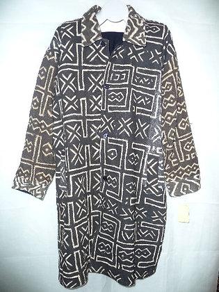 Black & White Mud Coat