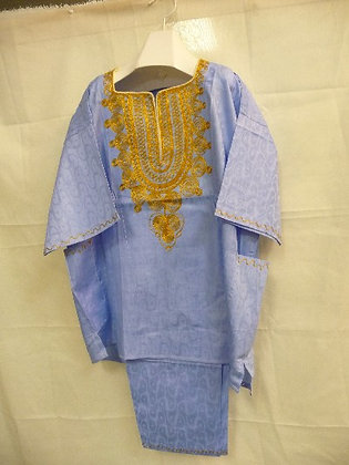 Blue & Gold Embroidered Set