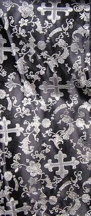 Black & Silver Asian Fabric