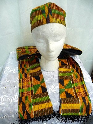 African Print Hat & Scarf Set