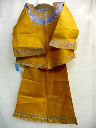 Gold Set with White Embroidery