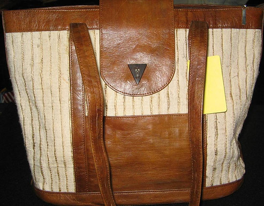 Leather & Country Cloth Bag