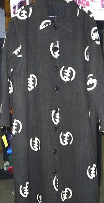 Black & White Mud Cloth Coat