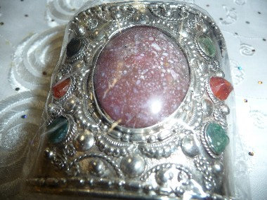 Silver Bracelet with Stone