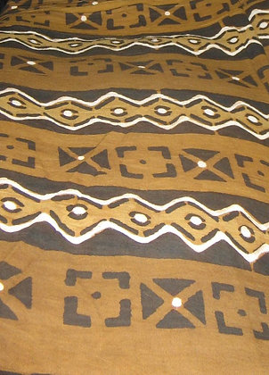 Brown, Black & White Mud Print Fabric