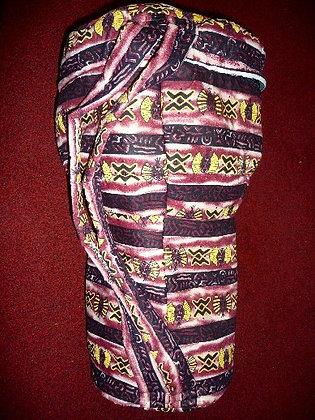 African Print Drum Bag