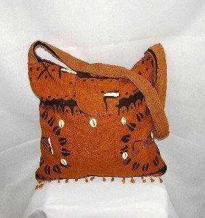 Mud Cloth & Shells Bag