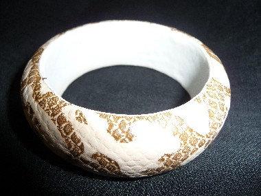 Gold & Off-White Bracelet