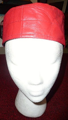 Red Leather Hat