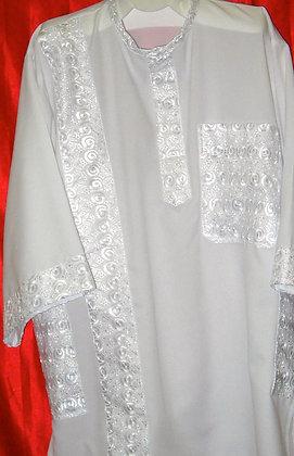 White Dashiki with White Embroidery
