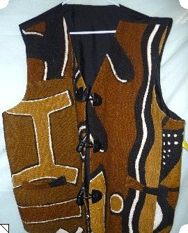 Mud Cloth Vest