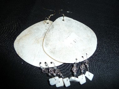 Large Off-White Earrings