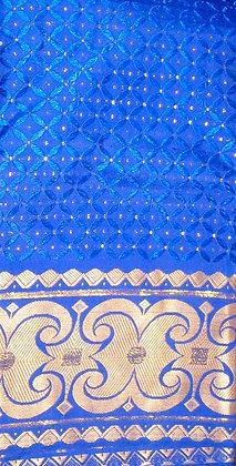 Blue & Gold George Fabric
