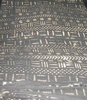 Brown & Beige Mud Print Fabric