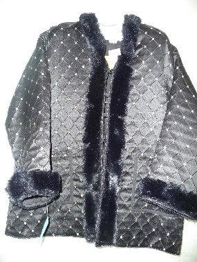 Black Mud Cloth Coat