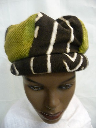 Green Mud Cloth Hat