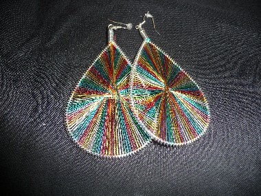 Large Thread Earrings