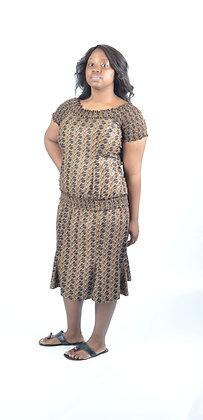 Brown African Print
