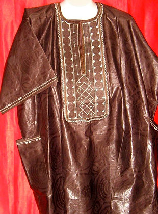 Brown Dashiki with Embroidery