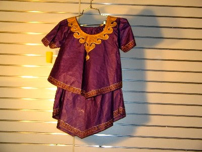 Purple Brocade with Gold Embroidery