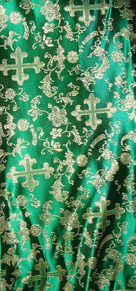 Green & Gold Asian Fabric