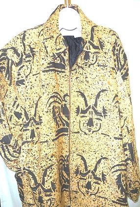 Black & Brown Mud Cloth Coat