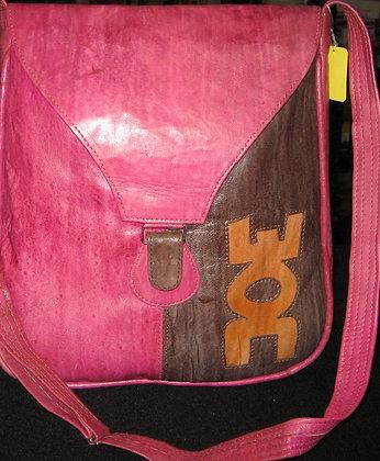 Pink & Brown Leather Bag