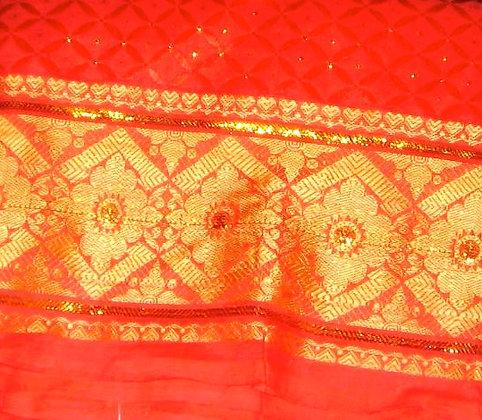 Orange & Gold George Fabric