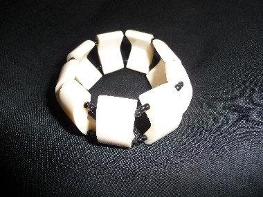 Off-White & Black Beads Bracelet