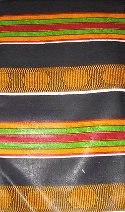 Kente African Print Fabric - Black