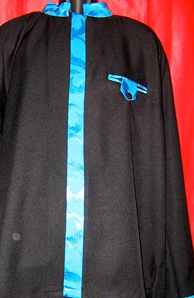 Black Shirt with Blue Teal