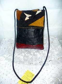 Mud Cloth & Leather Bag